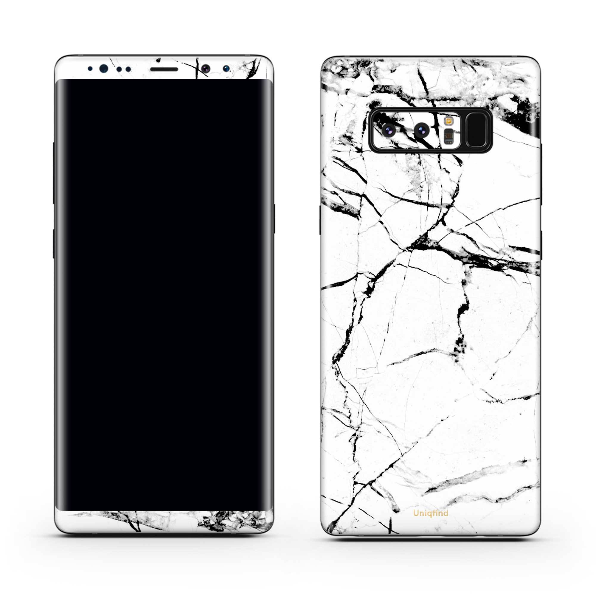 White Hyper Marble Galaxy Note 8 Skin + Case