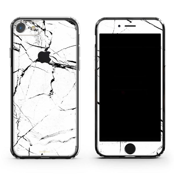 iPhone 7 Plus in White Marble Case