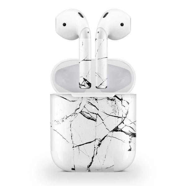 Hyper White Marble Skin AirPods Wireless Charging Case