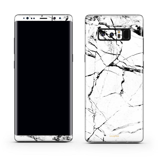 Note 8 White Marble Skin