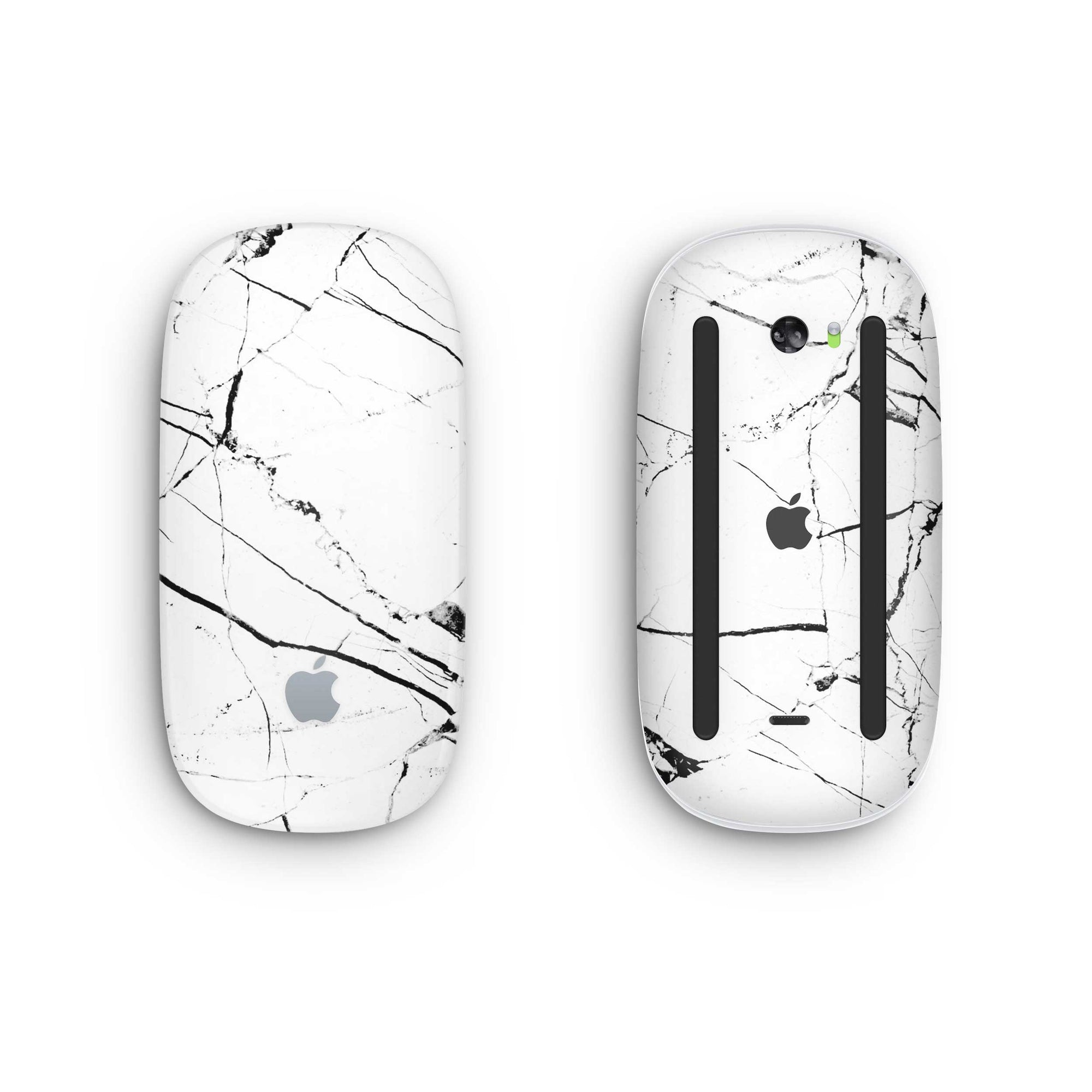 White Hyper Marble Magic Mouse 2 Skin