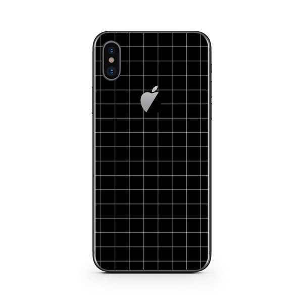 iPhone X Black Grid Skin
