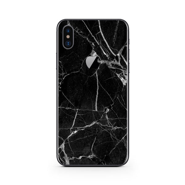 iPhone X Skin in Hyper Black Marble