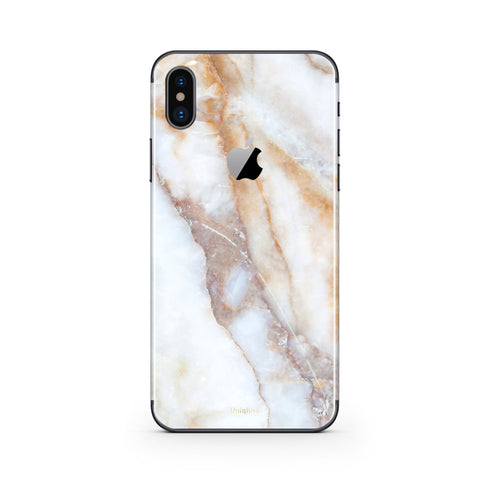 iPhone X Case and Skin in Vanilla Marble
