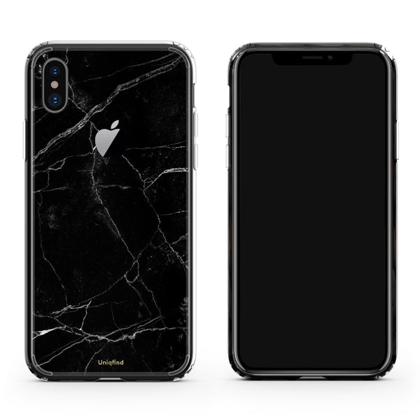 iPhone X case in Black Marble