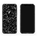 iPhone X case in Black Speckle