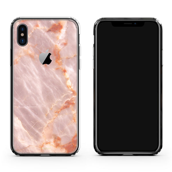 iPhone X case in Blush Marble