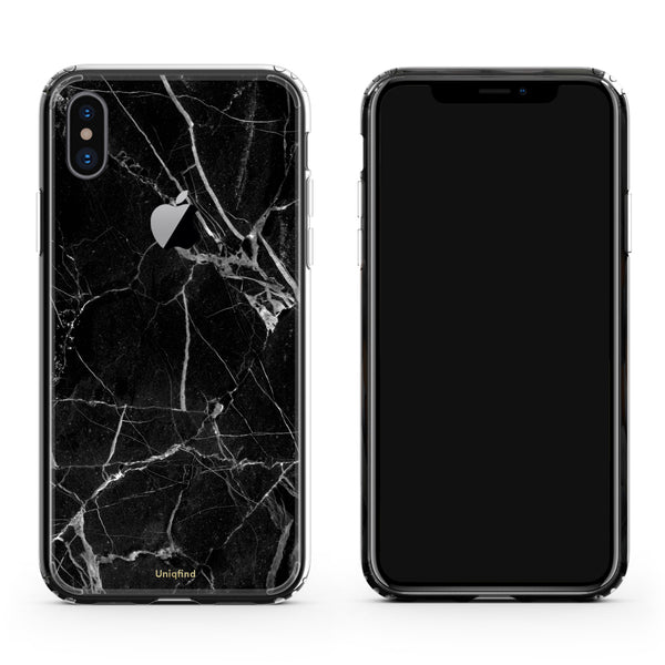 iPhone X Black Marble Case