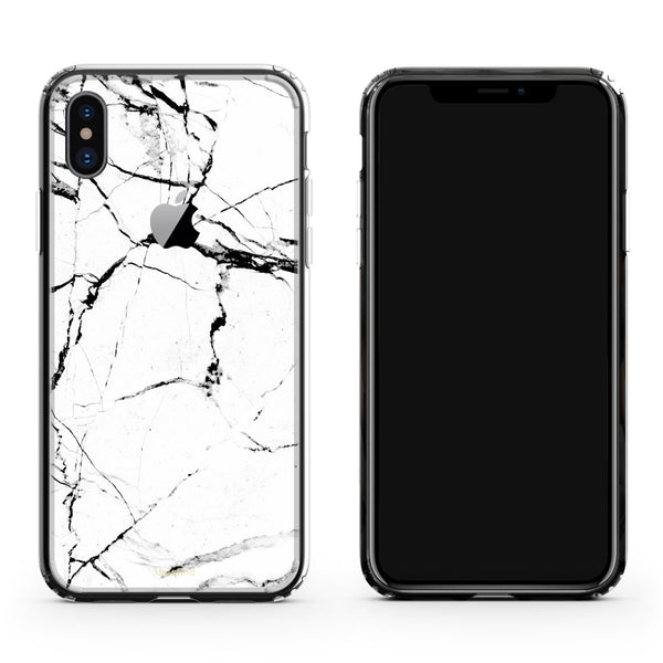 iPhone X Plus Case in Hyper White Marble
