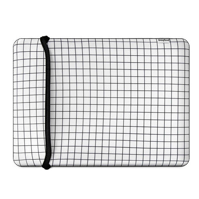 White Grid MacBook Pro Sleeve