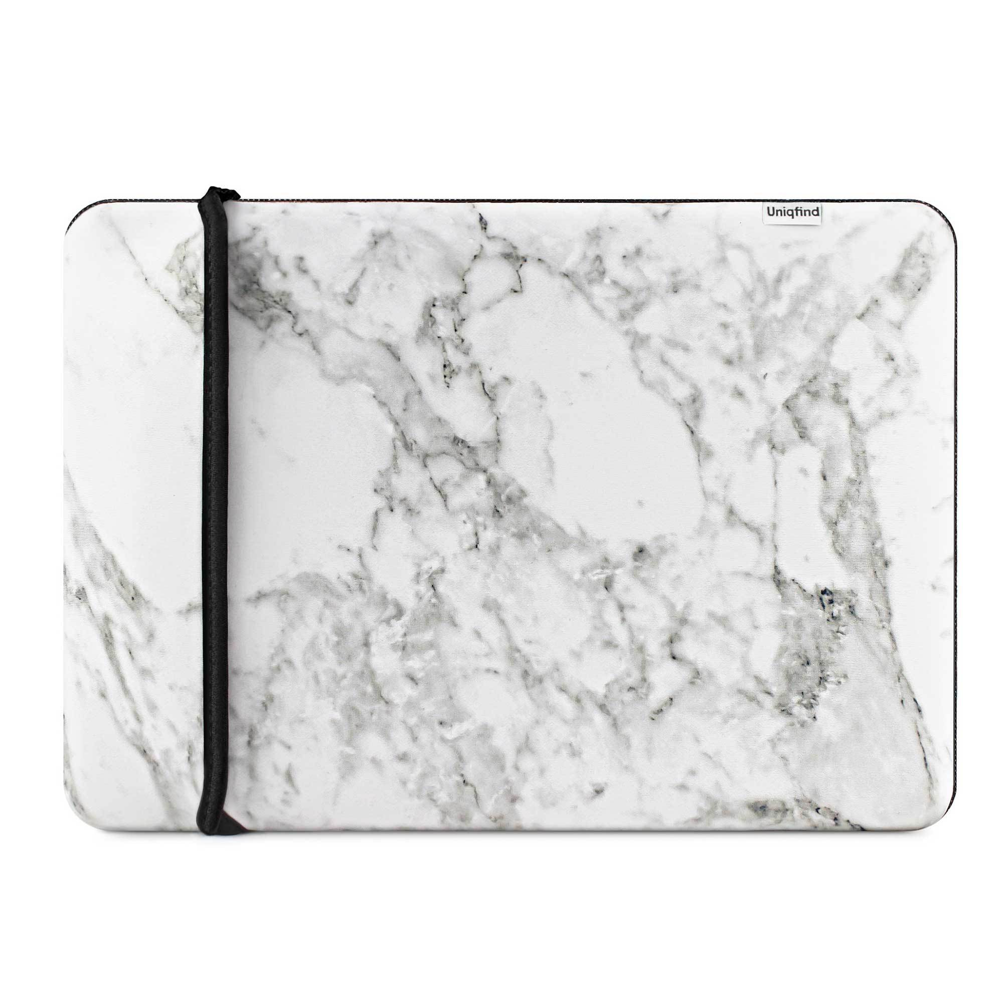 White Marble 12-inch MacBook Sleeve