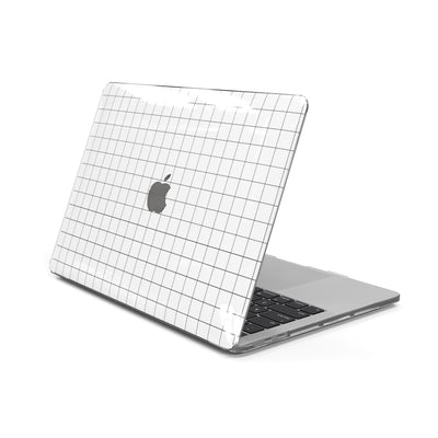 MacBook Case for 13-inch Pro 2016 2017 2018 2019 in White Grid