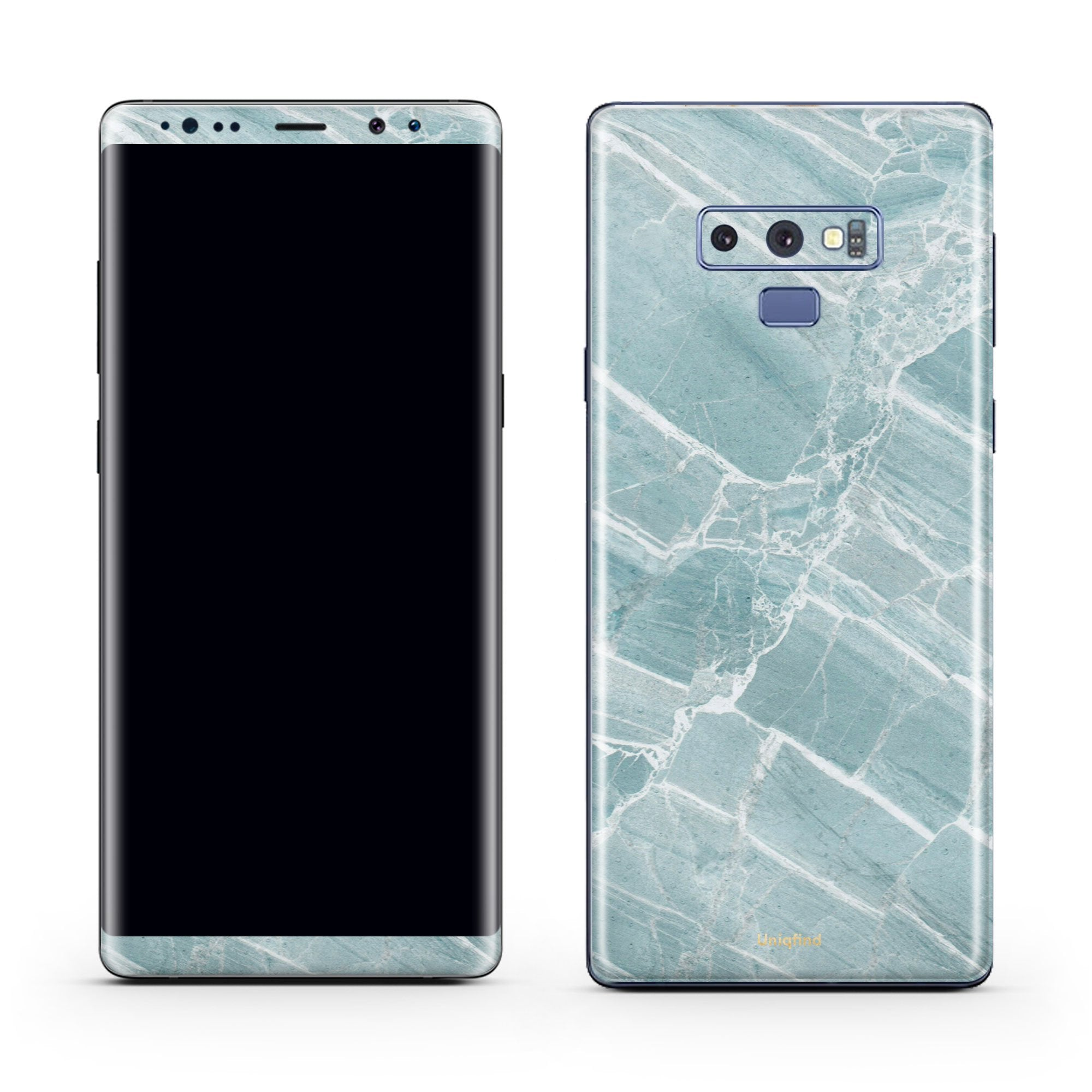 Mint Marble Galaxy Note 9 Skin + Case