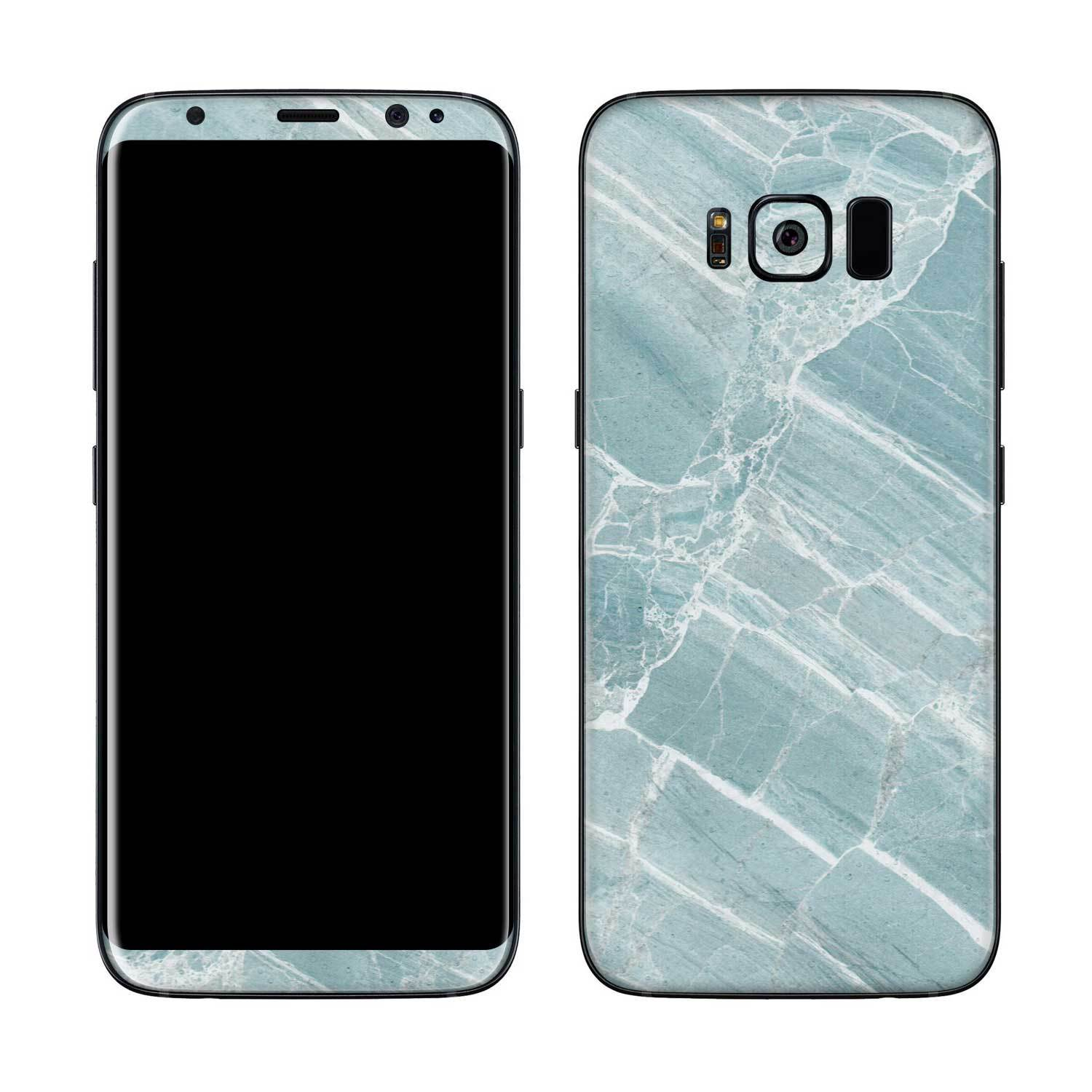 Mint Marble Galaxy S8 Plus Skin + Case