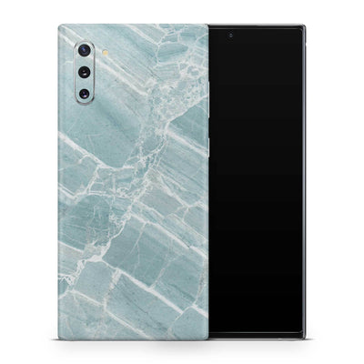 Mint Marble Galaxy Note 10 Skin + Case