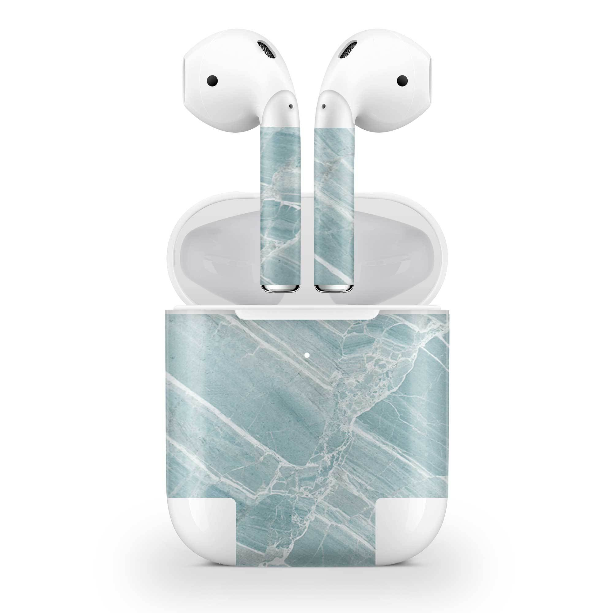 Mint Marble AirPods (Wireless Charging) Skin