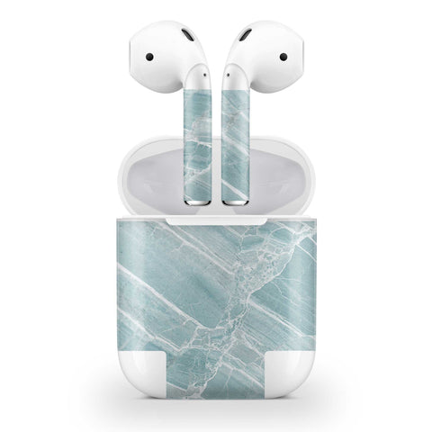 Mint Marble Skin AirPods