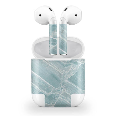 Mint Marble AirPods (No Wireless Charging) Skin