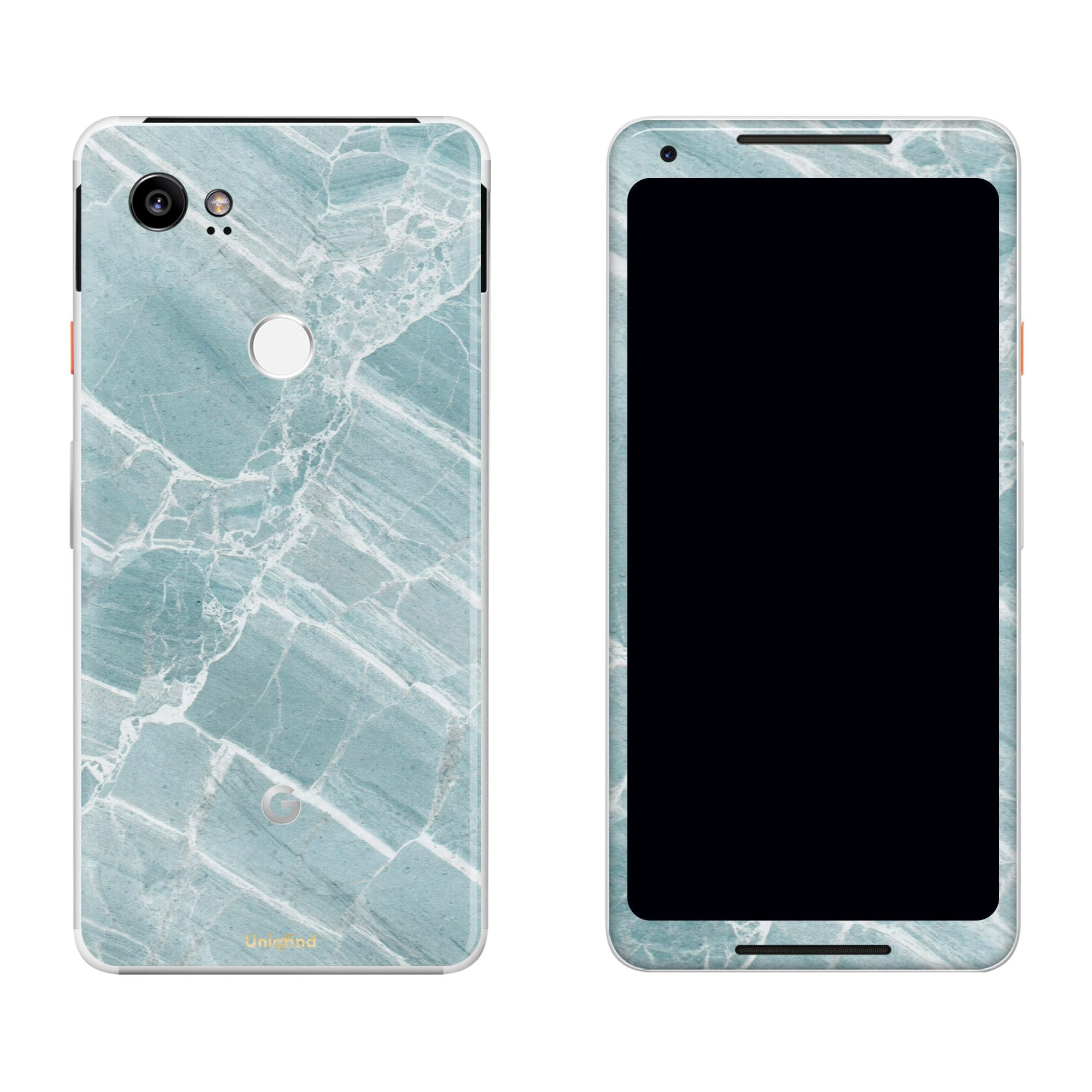 Mint Marble Pixel 2 XL Skin + Case