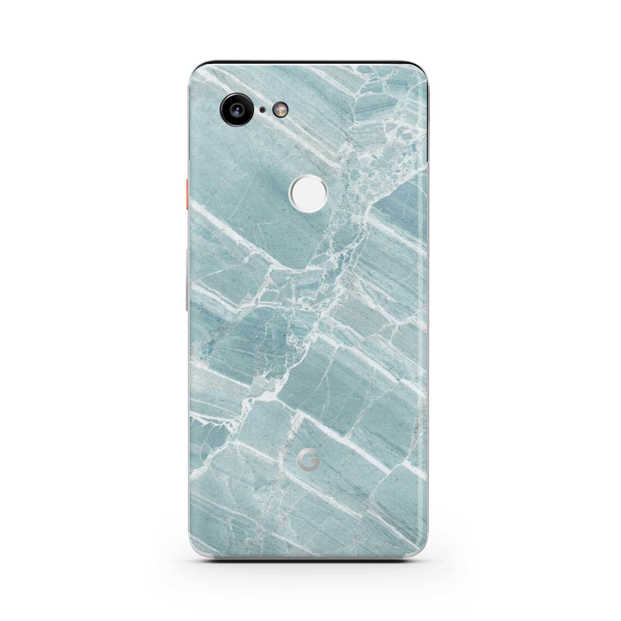 Mint Marble Pixel 3 XL Skin + Case