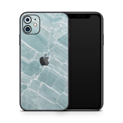 Mint Marble iPhone 11 Skin