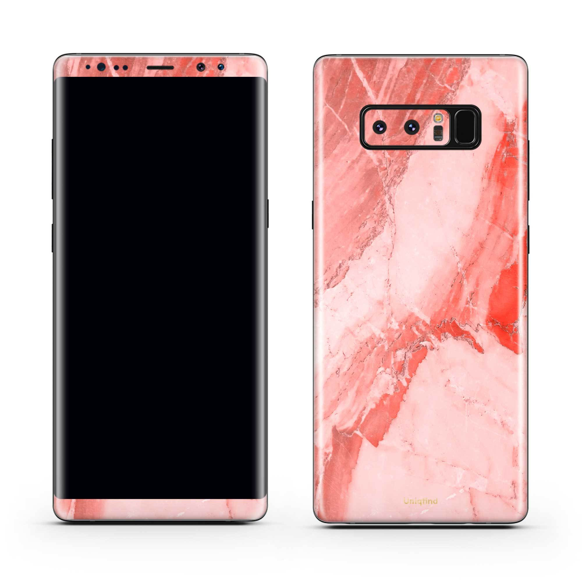 Coral Marble Galaxy Note 8 Skin + Case