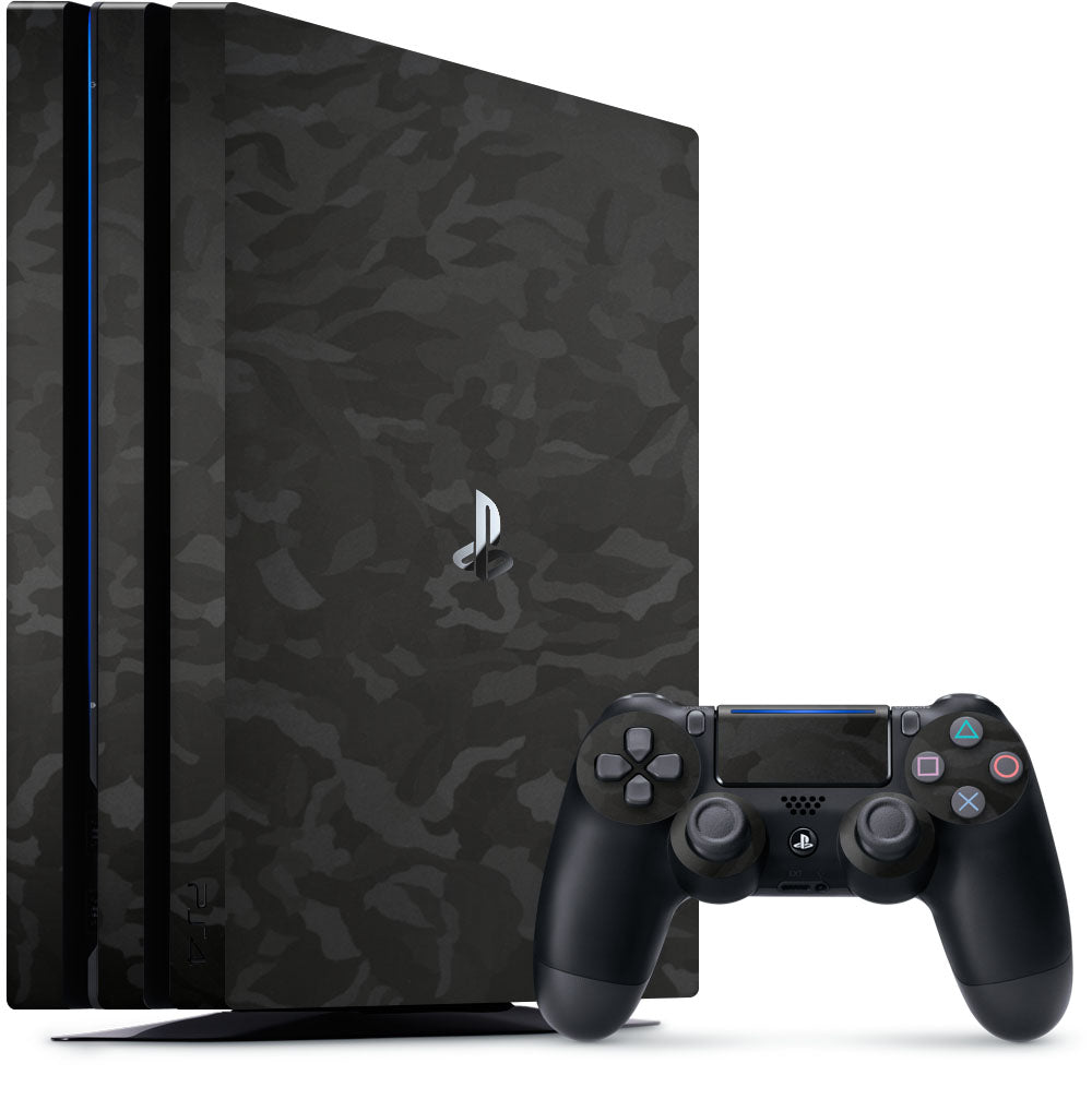 Black Camo Playstation 4 Pro Skin