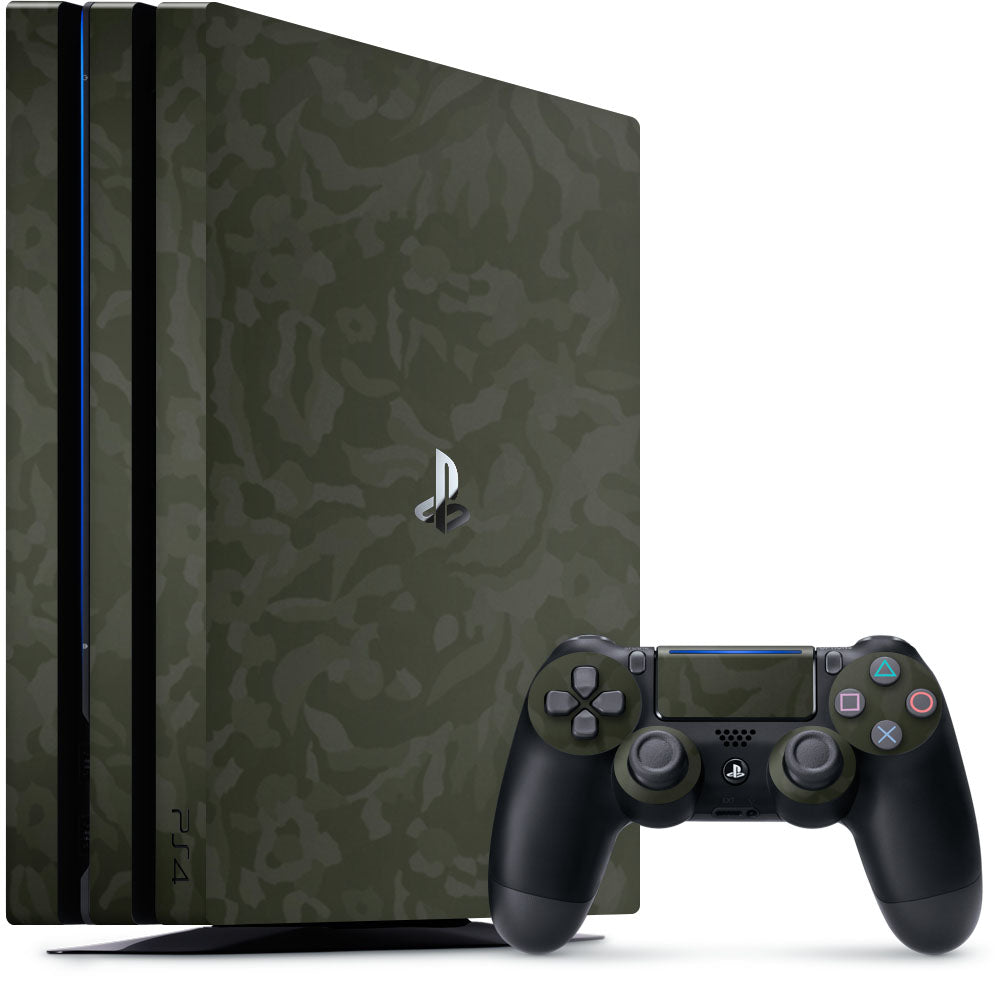 Green Camo Playstation 4 Pro Skin