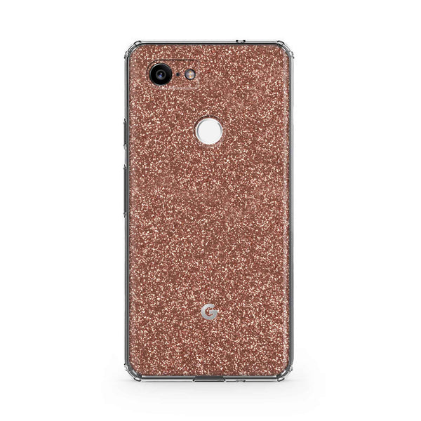 Rose Glitter Case Google Pixel 3 and 3 XL