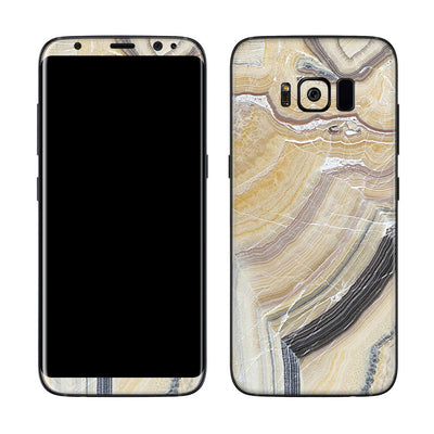 Butter Marble Galaxy S8 Cover