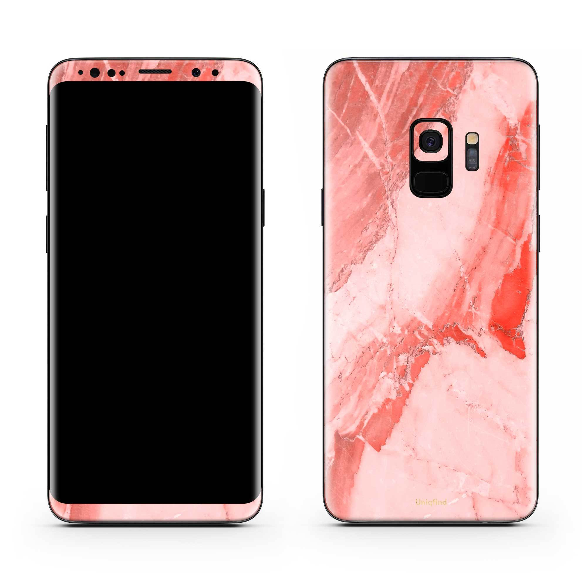 Coral Marble Galaxy S9 Skin + Case