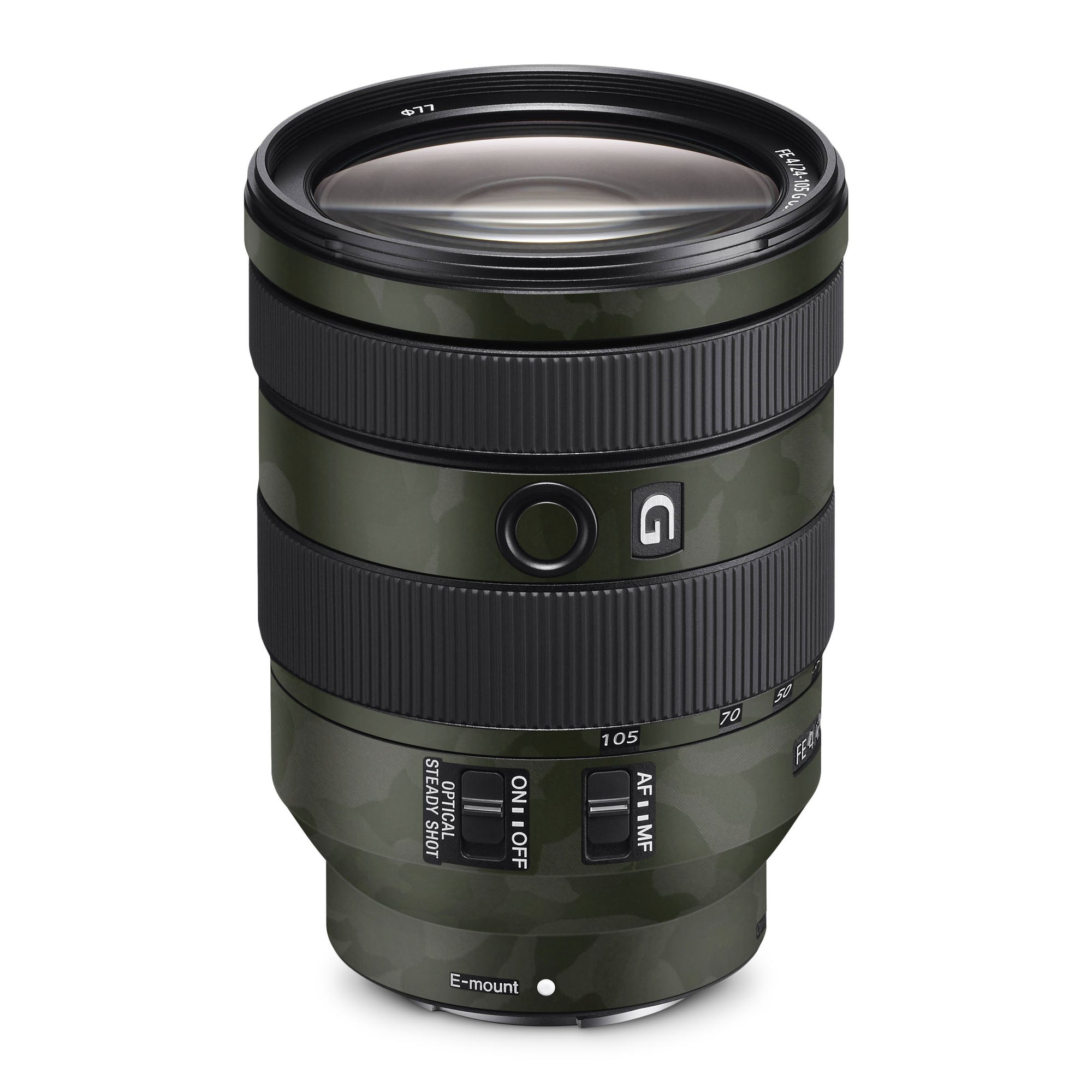 Sony Alpha FE 24-105mm Lens Skin Green Camo