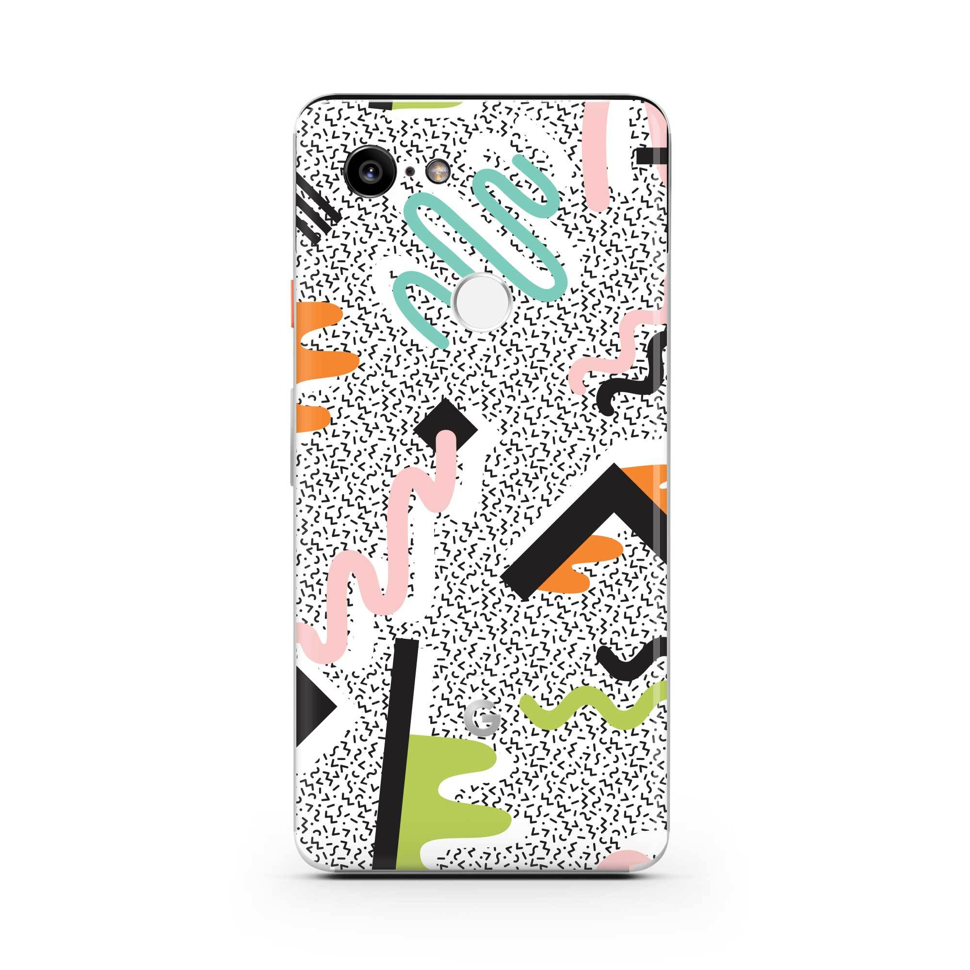 True Memphis Pixel 3 XL Skin + Case