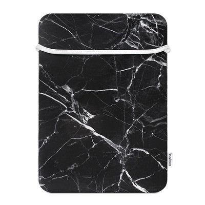 Uniqfind Black Marble Laptop Sleeve