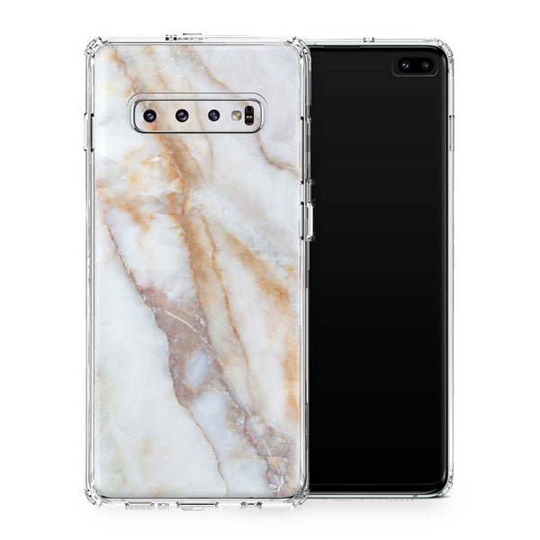 Vanilla Marble Case Galaxy S10 and S10+ and S10e