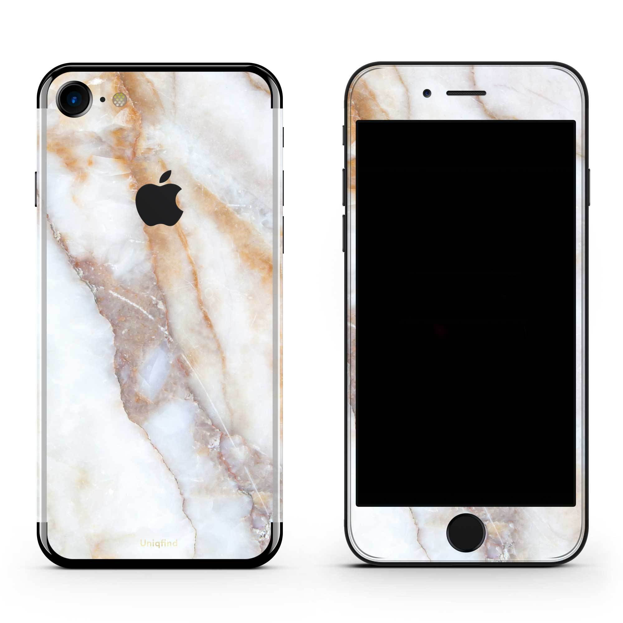 Vanilla Marble iPhone 7 Skin + Case