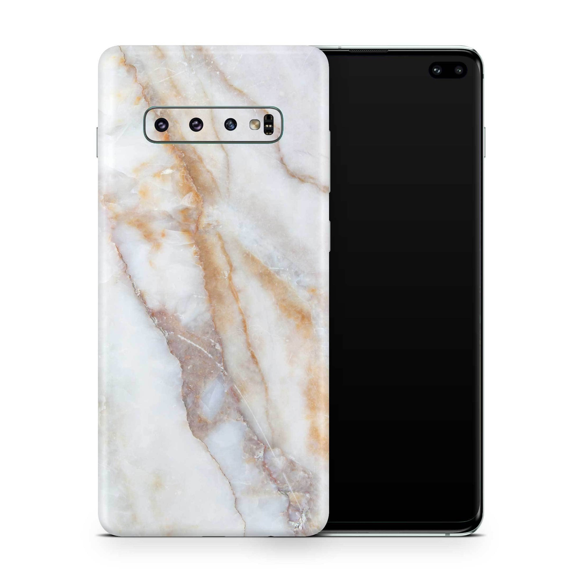 Vanilla Marble Galaxy S10 Plus Skin + Case