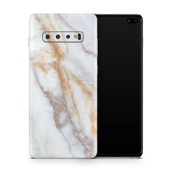 Vanilla Marble Skin Samsung S10 and S10 Plus and S10e