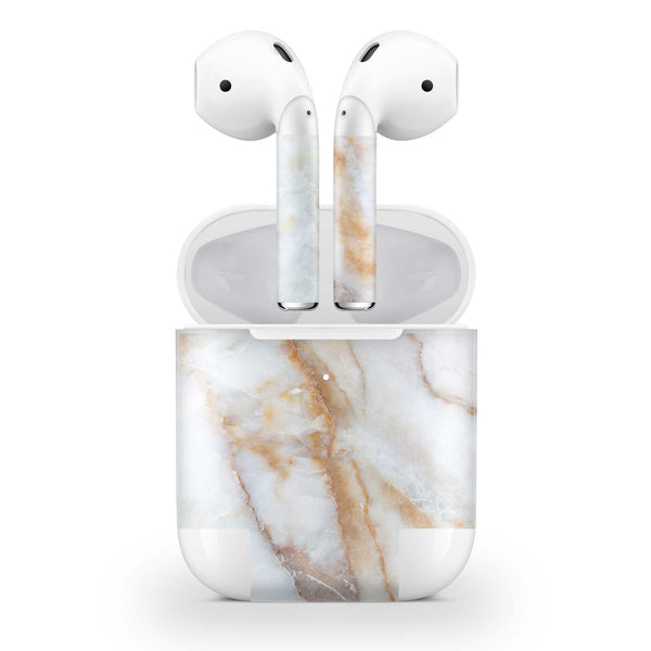 Vanilla Marble Skin AirPods Wireless Charging Case