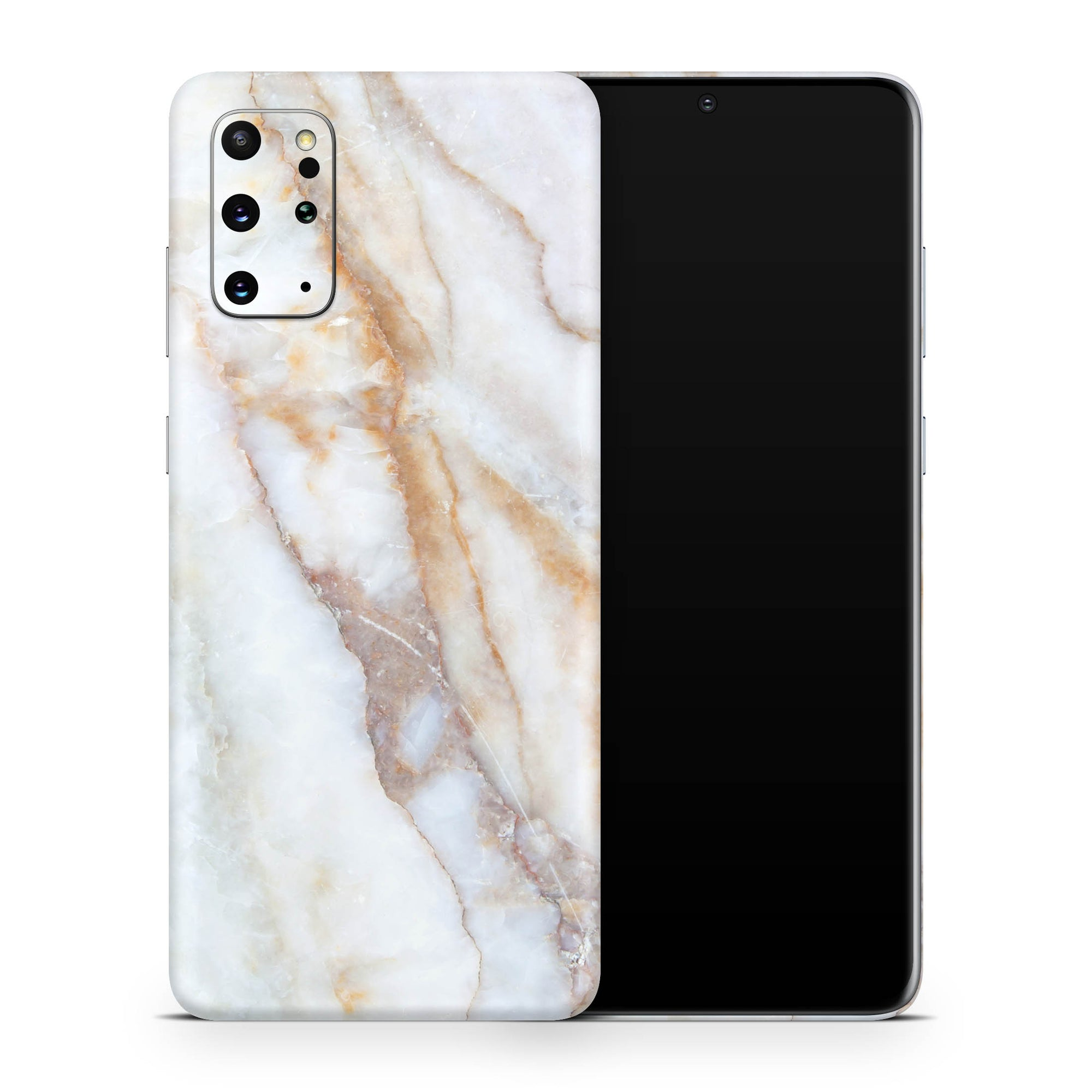 Vanilla Marble Galaxy S20 Plus Skin + Case-Uniqfind