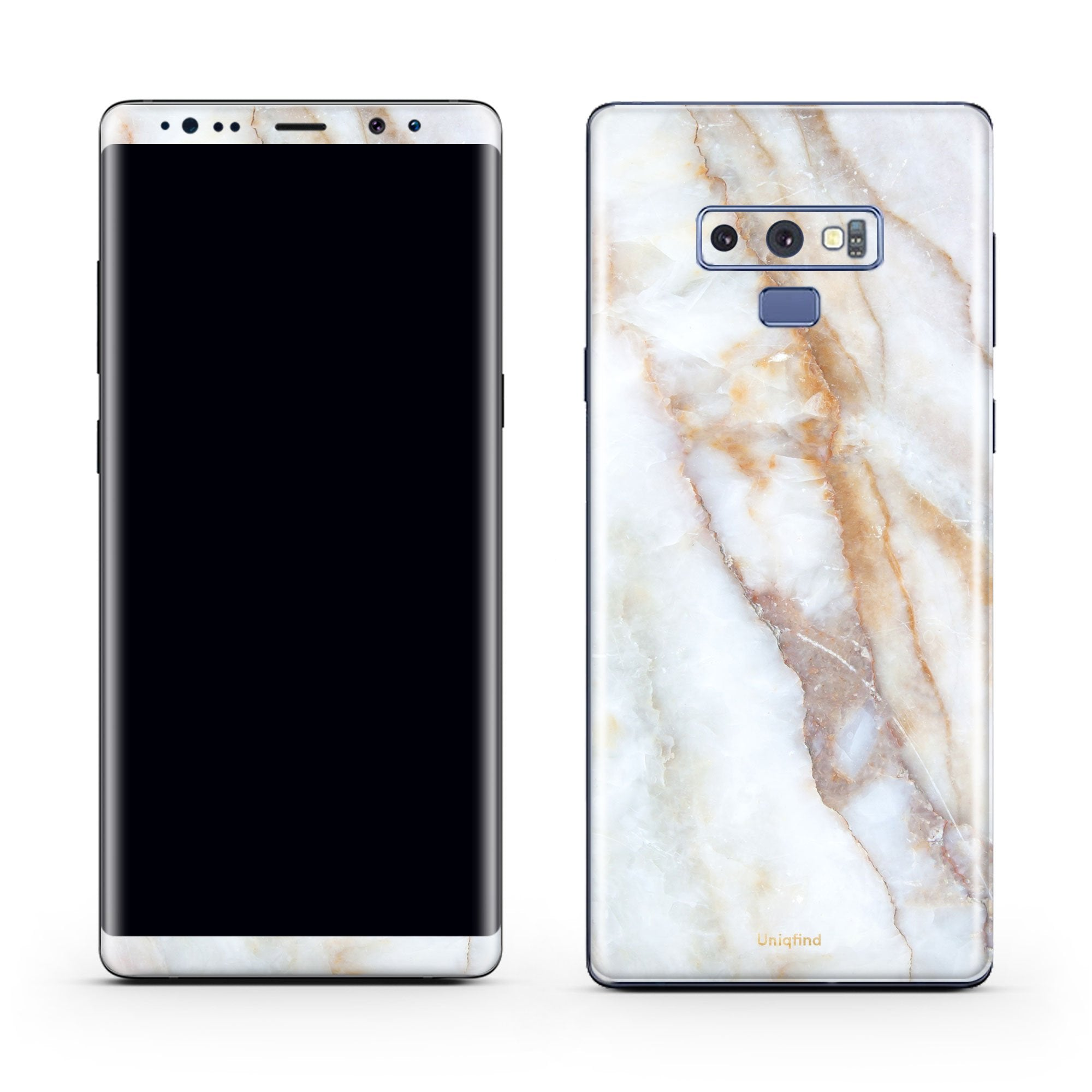 Vanilla Marble Galaxy Note 9 Skin + Case