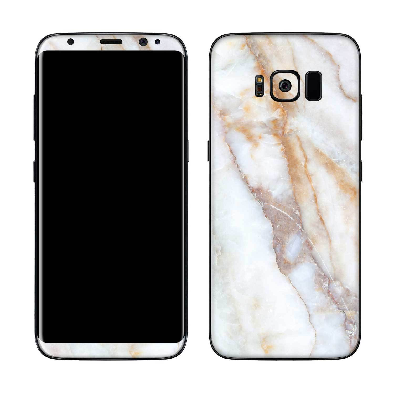 Vanilla Marble Galaxy S8 Plus Skin + Case