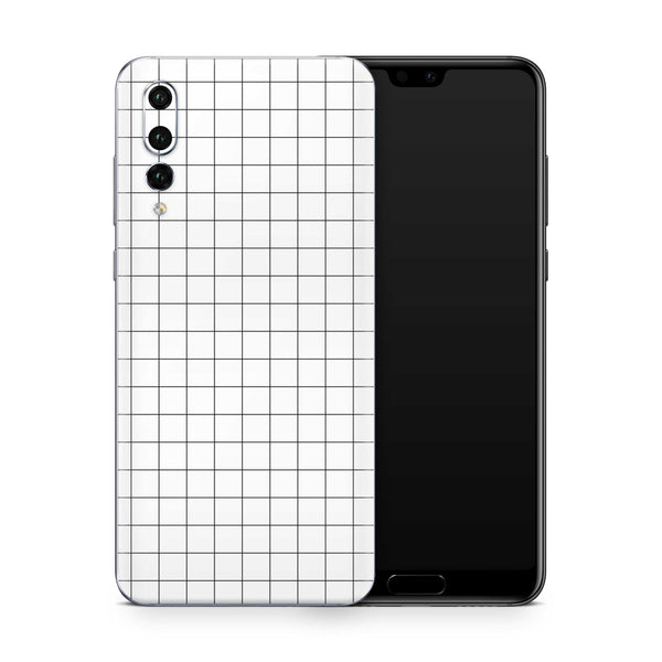 White Grid Line Skin Huawei P20 Pro and P30 Pro