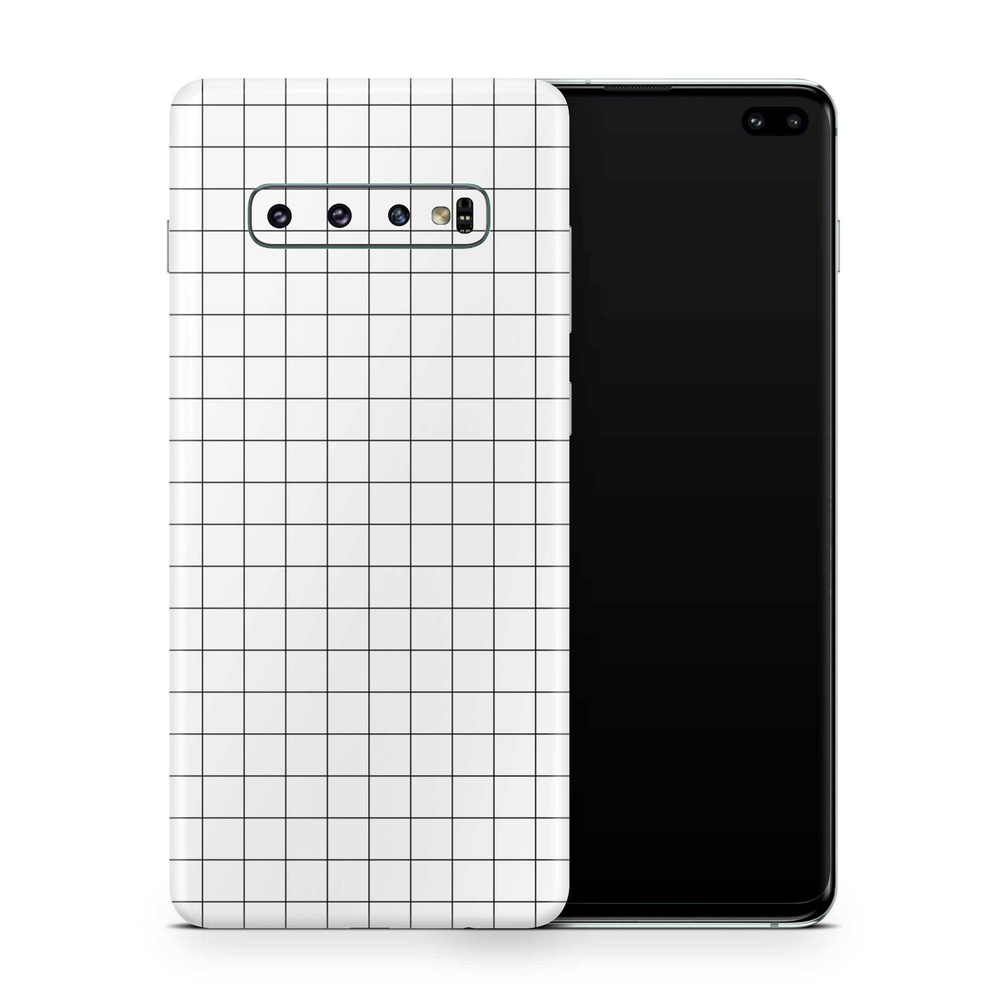 White Grid Line Galaxy S10e Skin + Case