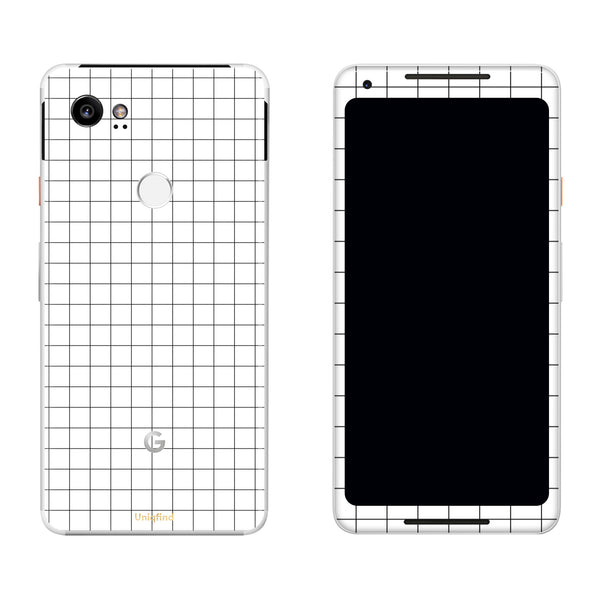White Grid Line Pixel 2 and Pixel 2 XL Skin