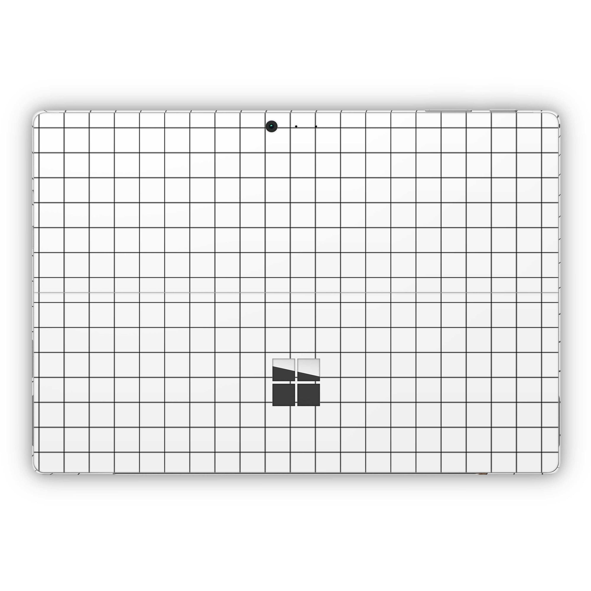 White Grid Line Surface Pro 5 and Surface Pro 6 Skin