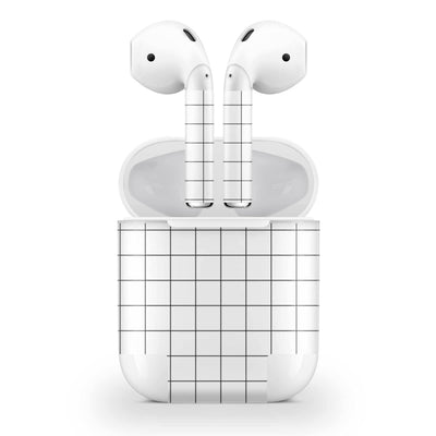 White Grid Line AirPods (2016) Skin
