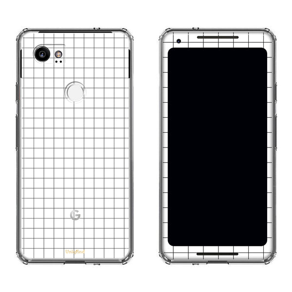 White Grid Line Pixel 2 and Pixel 2 XL Case