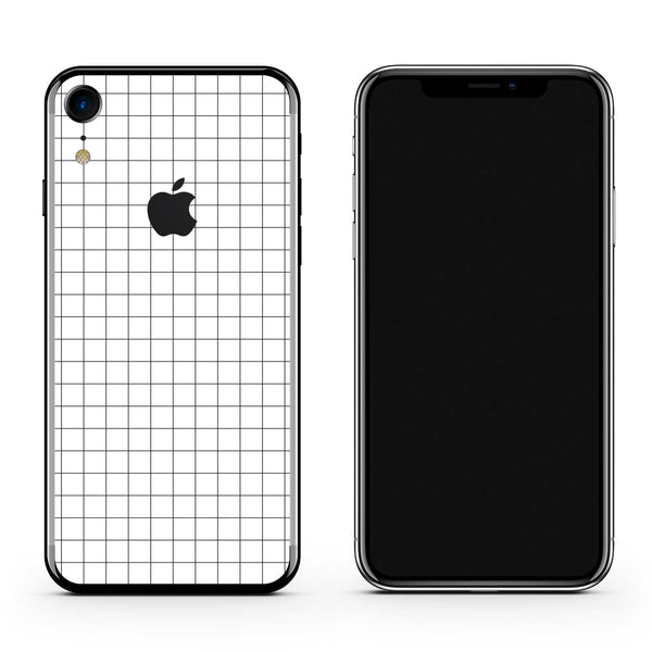 iPhone Skin White Grid XR