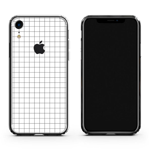 iPhone XR White Grid Case